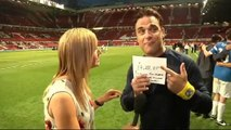 Robbie Williams emotional about Soccer Aid generosity