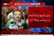 MQM leaders talk to media at Numaish chowrangi Karachi after Mr Altaf Hussain released on bail