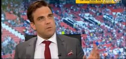 prematch interview - Soccer Aid - Robbie Williams