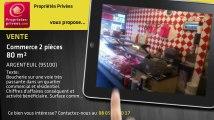 A vendre - commerce - ARGENTEUIL (95100) - 2 pièces - 80m²