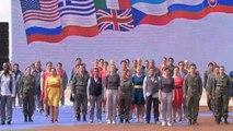 spectacle de la cérémonie officielle du 70ème anniversaire du Débarquement 6 juin 2014