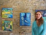 Hristova Temenuga, artiste peintre, Expo a Gourin,  Rencontres Culturelles, Gourin, Château de Tronjoly,   la-fontaine.tv