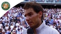 Nadal's first reaction after his 2014 French Open win