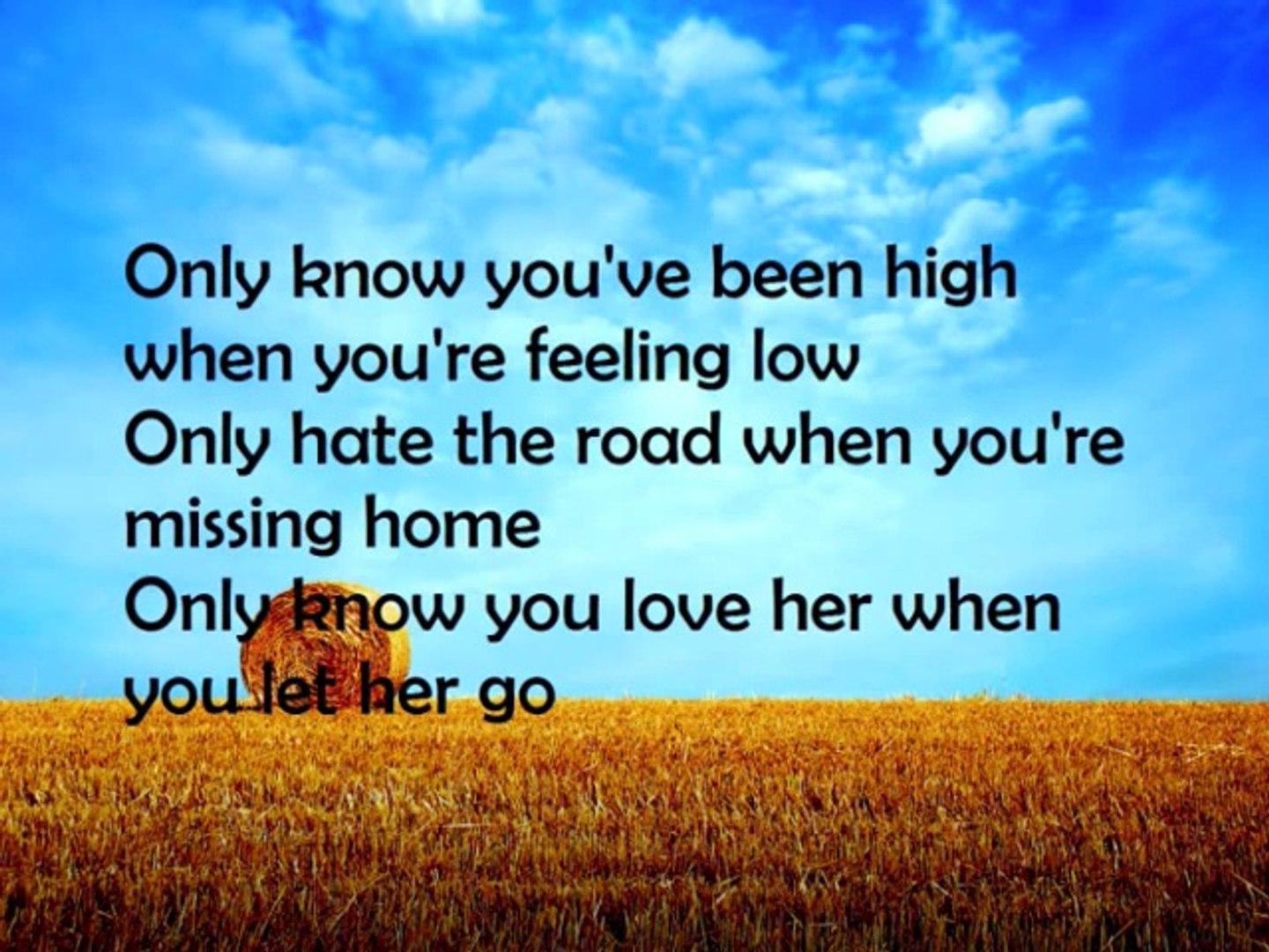 Passenger Let Her Go Lyrics Video Dailymotion