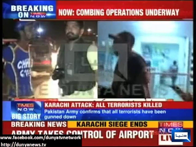 Dunya News - International media recognizes Dunya news coverage on Karachi airport attack