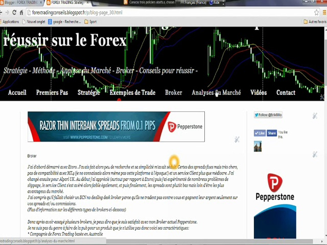 Forex Trading Stratégie: Présentation de mon Fx blog