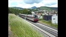 TRAINS INTERCITES 4492 et 4591, LE VENTADOUR, section Clermont-Fd à Royat, le 28 & 29 mai 2014.
