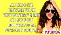 Selena Gomez - Music Feels Better Lyrics (Stars Dance 2013)