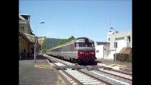 TRAIN INTERCITES ( T.E.T.) n° 4492- LE VENTADOUR - ROYAT-CHAMALIERES, 1 minute d'arrêt, 07 JUIN 2014.