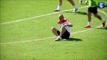 Coupe du monde Brésil 2014 : Altercation entre Robben  et Martins Indi lors d'un entraînement des Pays-Bas