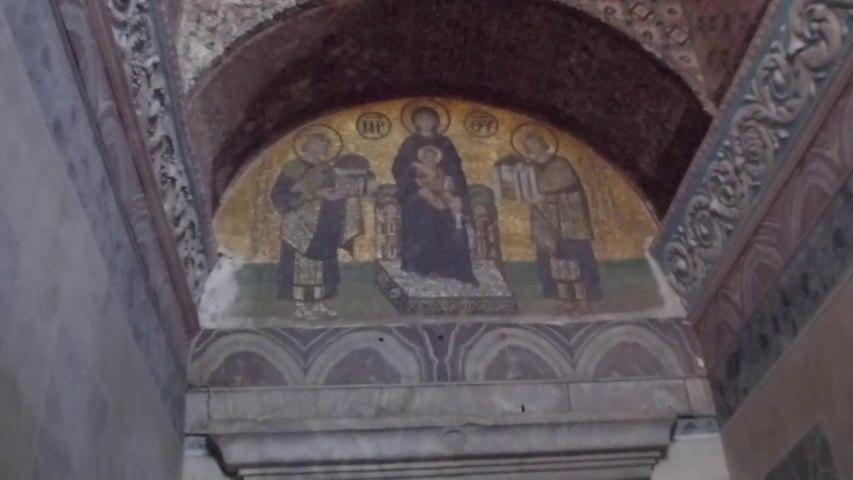 Sainte-Sophie, mosaïque de l'entrée sud-ouest