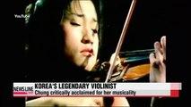 Korea's classical music legend Chung Kyung-wha tells her nearly 50 yrs of global music career