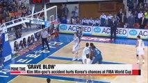Basketball Kim Min-goo accident hurts S. Korea's chances at FIBA World Cup