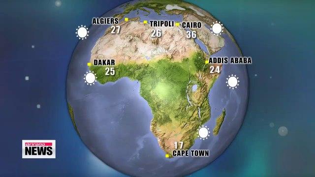 More sporadic showers forecast nationwide through Thursday