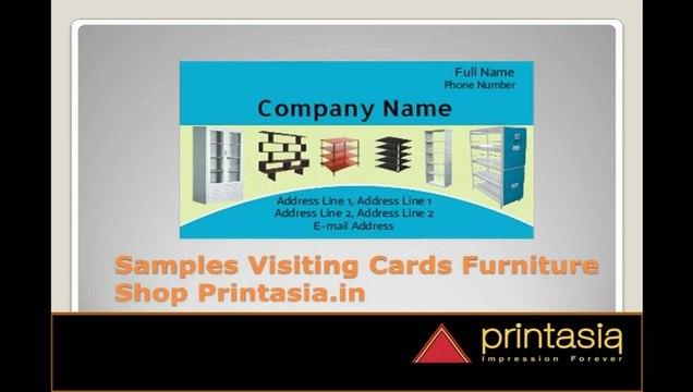 Furniture Visiting Cards Premium Business Card Online Design For