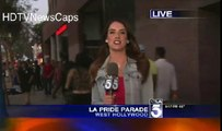 Funny News Blooper - Drunk Guy Crashes News Interview