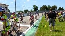 Ecole de vélo piste du 07.06.2014 su le vélodrome des alliers
