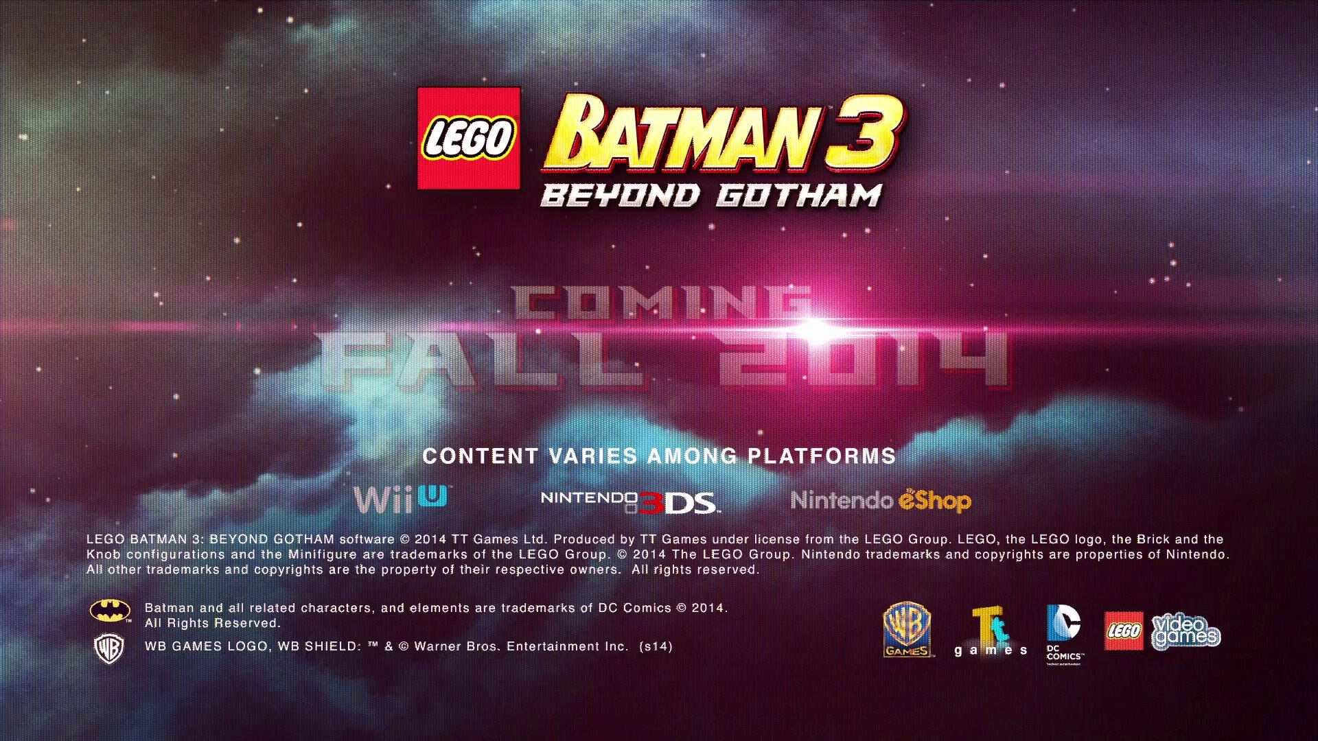 Wii U Lego Batman 3 Beyond Gotham Announce Trailer Video Dailymotion