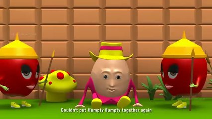 Humpty Dumpty 3D English Nursery Rhyme for kids with apples