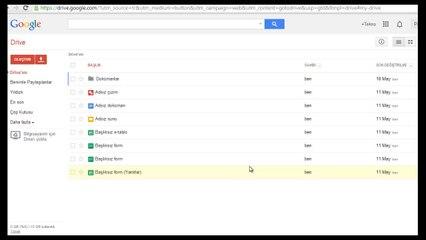 Google Drıve Doküman Uygulaması 1. Ders