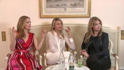 Interview casting du film Triple Alliance avec Cameron Diaz, Leslie Mann et Kate Upton
