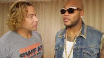 Backstage with Celebrity Sweat and Hip-Hop singer Flo Rida!
