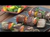 Recette de Brochettes de boeuf aux légumes  - 750 Grammes