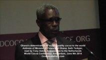 World Cocoa Conference 2014, Amsterdam. Discours de Seth Terkper, Ministre des Finances du Ghana