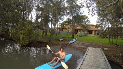 Sinking Kayak