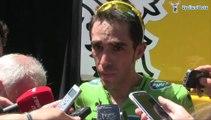 Alberto Contador à l'arrivée de la 5e étape du Critérium du Dauphiné 2014