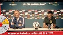 Neymar et Scolari à l'aise en conférence, l'affaire Lizarazu-Evra... En route vers le Mondial !