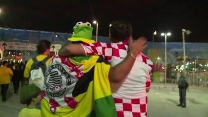 Mondial: les Brésiliens fêtent leur victoire face à la Croatie