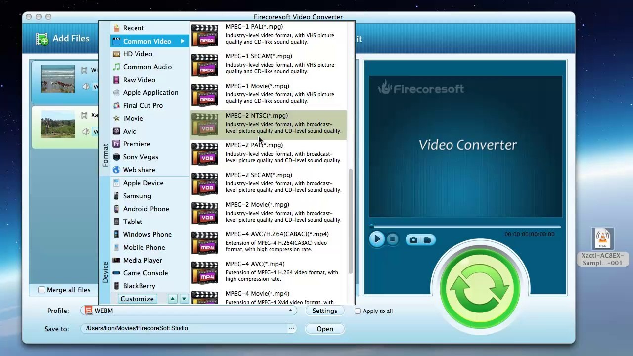 HTML5 converter--convert any video to HTML5 MP4/OGG/WEBM video