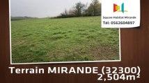 A vendre - Terrain - MIRANDE (32300) - 2 504m²