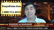 Seattle Mariners vs. Texas Rangers Pick Prediction MLB Odds Preview 6-13-2014