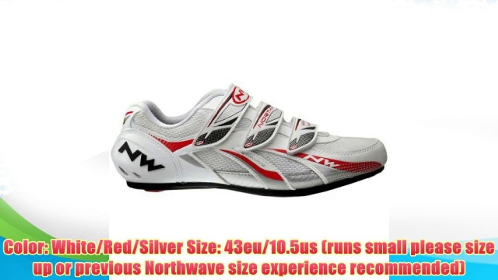 Best buy Northwave Fighter Cycling Shoes Mens Road White/Red/Silver 43eu 10.5us,