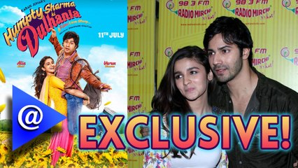 Alia-Varun promote 'Humpty Sharma Ki Dulhania' at Radio Mirchi Studio. - AtBollywood