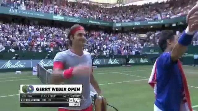 Tennis - Drôle, Roger Federer oublie qu'il avait gagné le match !