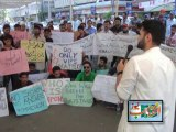 Protest For the Martyrs of Karachi Airport in front of Press Club Karachi 14-06-2014