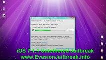 Evasion UNTETHERED iOS 7.1.1 Jailbreak Tool For iPhone 5, iphone 4, iPhone 3GS, iPad3