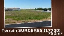 A vendre - Terrain - SURGERES (17700) - 752m²