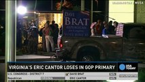 GOP leader Eric Cantor loses to Tea Party newcomer