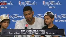 Spurs Discuss Finals Win; LeBron on Loss