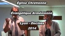 Culte du dimanche 15 Juin 2014
