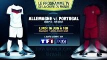 Allemagne - Portugal, Ghana - USA... Le programme TV du jour !