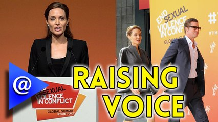 Angelina Jolie raises Voice against Sexual Violence - AtHollywood
