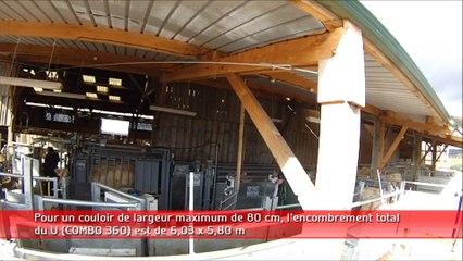 Contention bovins bâtiment (Caméra embarquée)