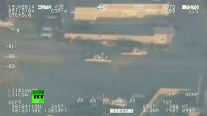 Combat cam video_ Iraq forces airstrike ISIL radicals