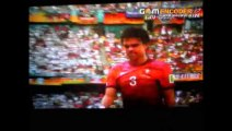 ぺぺが倒した相手に追い打ちの頭突きでレッドカード 1発退場 ポルトガル- ドイツ戦 2014 FIFA ワールドカップ ブラジル 14.06.14 6月14日 ゴールシーン ハイライト