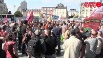 150 personnes manifestent devant la gare de Rennes juin 2014